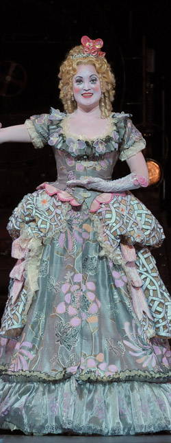 "Olympia's full-length gown conceals a remote-controlled tricycle in Lyric Opera of Chicago's ""Tales of Hoffmann"""