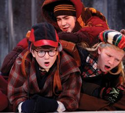 A Christmas Story The Musical Clarke Hallum as Ralphie and kids Chicago 2011