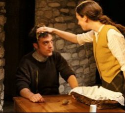Cripple of Inishmaan at Redtwist Theatre 2012 Patrick Whalen as Bartley and Baize Buzan as Slippy Helen credit Kimberly Loughlin