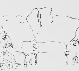 Misha Dichter drawing from A Pianist's World in Drawings credit Rosetta Books