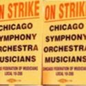 Chicago Symphony musicians' strike signs