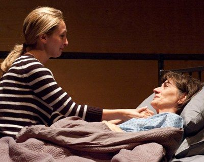 Daughter and mother - Jessie Fisher as Clara and Brooks as Dr. Brandt – as death approaches. (Lara Goetsch, TimeLine)