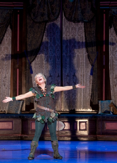 Cathy Rigby as Peter Pan at Cadillac Theatre Broadway in Chicago 2013 credit Isaac James