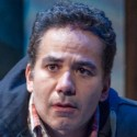 John Ortiz is Jackie in Steppenwolf The __ with the Hat by Stephen Adly Guirgis, photo Michael Brosilow