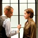 The Letters political thriller at Writers' Theatre Mark L. Montgomery as The Director and Kate Fry as Anna credit Michael Brosilow