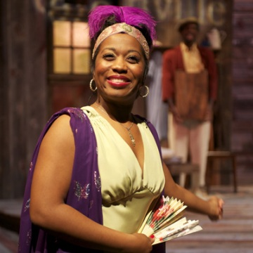 Alexis J. Rogers in Spunk at Court Theatre credit Michael Brosilow