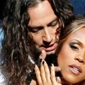 Constantine Maroulis and Deborah Cox in Jekyll and Hyde during last pre-Broadway weeks at Chicago Cadillac Palace 2013 credit Chris Bennion