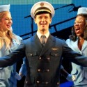 Stephen Anthony as an airplane pilot in the Catch Me if You Can Broadway in Chicago 2013 tour company credit Carol Rosegg
