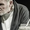 Krapp (Rick Cluchey) scorns the man he was in Krapp's Last Tape by Samuel Beckett  produced by Shattered Globe Theatre credit Kevin Viol
