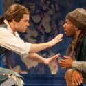 Nate Burger, left, and LaShawn Banks in The Liar at Writers' Theatre credit Michael Brosilow