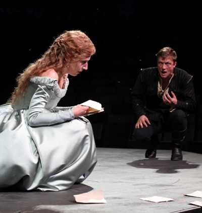 Cristina Panfilio as Ophelia and Matt Schwader as Hamlet at American Players Theatre 2013 (Carissa Dixon)
