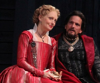 Deborah Staples as Gertrude and Jim DeVita as Claudius in 'Hamlet' at American Players Theatre 2013 (Carissa Dixon)