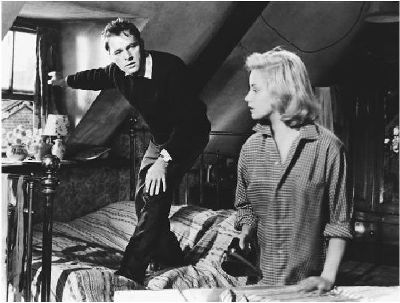 A scene from the 1959 film of John Osborne's 'Look Back in Anger,' with Richard Burton and Mary Ure (thefiendish.com)