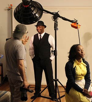 'The Mountaintop' photo shoot, with David Alan Anderson and Lisa Beasley (Court Theatre)