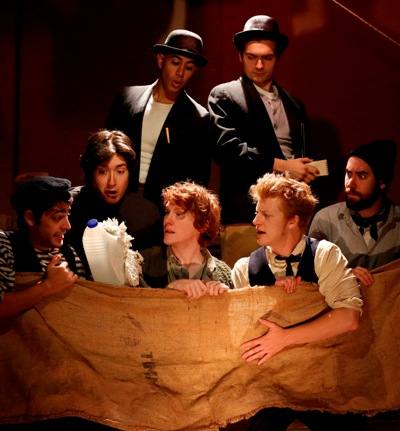 The seven-member Pigpen Theatre troupe in 'The Old Man and the Old Moon,' off-Broadway in 2012. The show comes to Writers' Theatre in September 2013 (Joan Marcus)