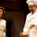Julia Child (Karen Janes Woditsch) gets her first lesson from chef Bugnard (Terry Hamilton) in To Master the Art. (Giorgio Ventola)