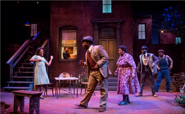 Everybody's boogeying in August Wilson's 'Seven Guitars,' directed by Ron OJ Parson at Court Theatre. (Michael Brosilow)