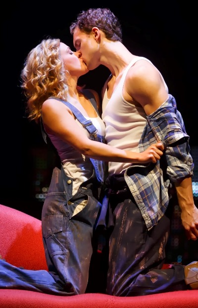 Molly (Katie Postotnik) and Sam (Steven Grant Douglas) before tragedy separates them in 'Ghost The Musical' presented by Broadway in Chicago. (Joan Marcus)