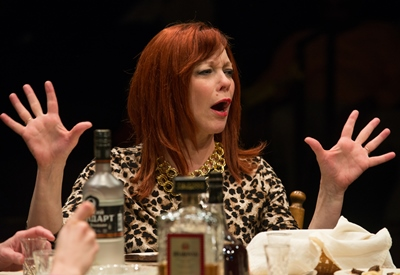 Diana (Mariann Mayberry) is the tough-as-nails matriarch in 'Russian Transport.' (Michael Brosilow)