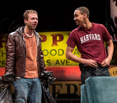 Don (Shane Kenyon), desperate for a place to stay, promises Jackson (Eric Lynch) he'll steer clear of drugs. (Liz Lauren)