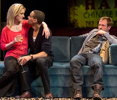 Don (Shane Kenyon) is the odd man out in a nest newly feathered by Jackson (Eric Lynch) and Suzy (Lee Stark). (Liz Lauren)