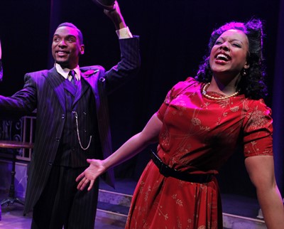 Donterrio Johnson and Sharriese Hamilton let it all out in the Fats Waller revue 'Ain't Misbehavin'' produced by Porchlight Theatre. (Kelsey Jorissen)