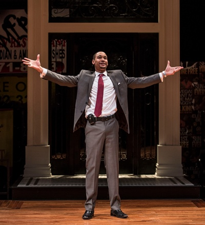 Jackson, (Eric Lynch), now a lawyer, has returned to his gentrified ghetto roots and a life full of promise. (Liz Lauren)
