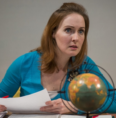 Laura Hooper as Gidion's teacher in the play by Johnna Adams at Profiles sTheatre. (Michael Brosilow)