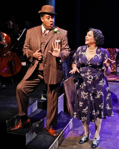 Lorenzo Rush, Jr., and Lina Wass cut the rug with style in 'Ain't Misbehavin' produced by Porchlight  Theatre. (Kelsey Jorissen)