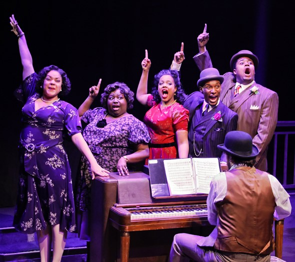 The exuberant cast of 'Ain't Misbehavin'' with pianist Charles T. Hayes. (Kelsey Jorissen)