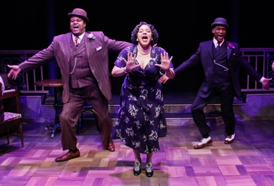 Three's a beautiful crowd as Lorenzo Rush, Jr. (left), Lina Wass and Donterrio Johnson strutt their stuff in 'Ain't Misbehavin'.' (Kelsey Jorissen)