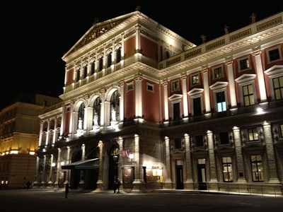 Vienna's Musikverein at night (Wiki Commons)