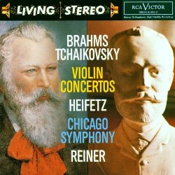 RCA Living Stereo recording of the Brahms Violin Concerto with Heifetz, Reiner conducting, Still playing oboe solo, Chicago Symphony Orchestra