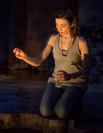 Odessa Ortiz (Charin Alvarez) relives what she cannot do over in 'Water by the Spoonful.' (Michael Brosilow)