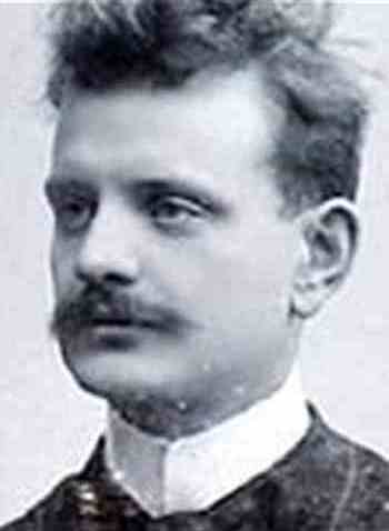 Jean Sibelius, about the time he composed 'Four Legends of the Kalevala' (1893-96).