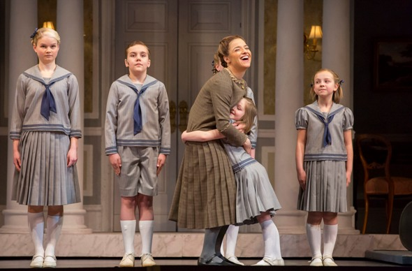 Maria (Jenn Gambatese) kids with the von Trapp children in 'The Sound of Music' at Lyric Opera of Chicago (Todd Rosenberg)