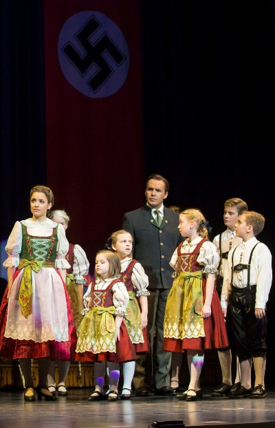 The family von Trapp prepares to sing farewell at the festival in 'The Sound of Music' Lyric Opera of Chicago 2014 (Todd Rosenberg)