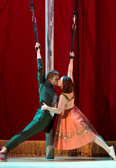 The passionate lovers (Andrew Durand and Etta Murfitt) in 'Tristan & Yseult.' (Heidi Bohnenkamp)
