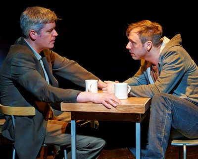 Anna's father (Peter Moore) and his brother Terry (Shane Kenyon) have a heart to heart talk. (Lee Miller)