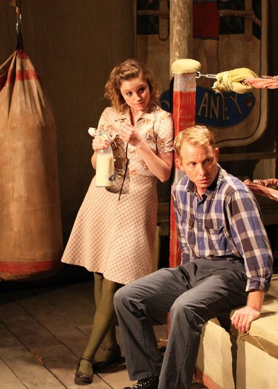 The boss's daughter Emer (Jamie L. Young) and Junior find romance in  'Lay Me Down Softly.' (Emily Schwartz)
