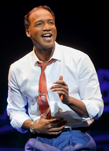Clifton Oliver is Berry Gordy in 'Motown the Musical.' (c) Joan Marcus, 2014