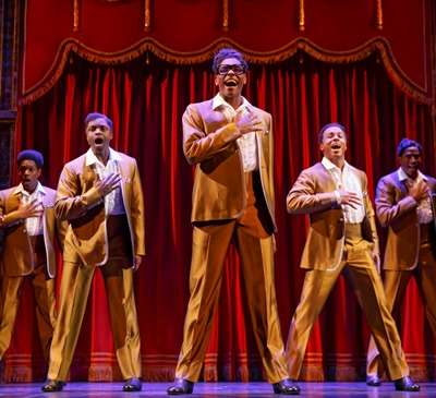The Temptations are brought to life in 'Motown the Musical.' (c) Joan Marcus, 2014