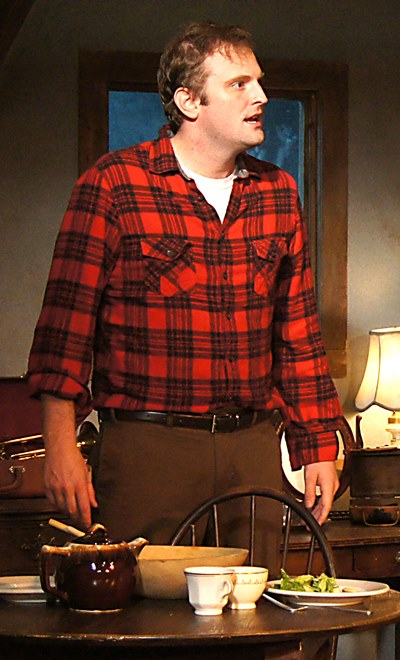 Jimmy (Joseph Wiens) rages constantly at an unjust world in 'Look Back in Anger.' (Jan Ellen Graves)