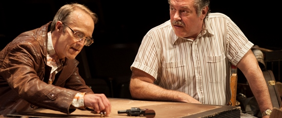 James Ridge, left, and Brian Mani play a pair of guys looking for easy money in David Mamet's 'American Buffalo' at American Players Theatre. (Zane Williams)