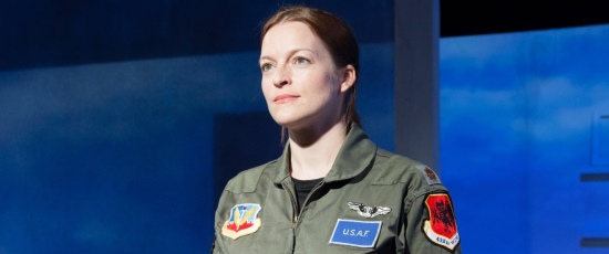 Gwendolyn Whiteside portrays the Pilot in the American Blues Theater production of George Brant's 'Grounded.' (Johnny Knight)
