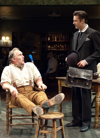 Jack Boyle (Ron Rains, seated) hears some astonishing news from an estate's representative (Peter Oyloe) in 'Juno.' (Lara Goetsch)