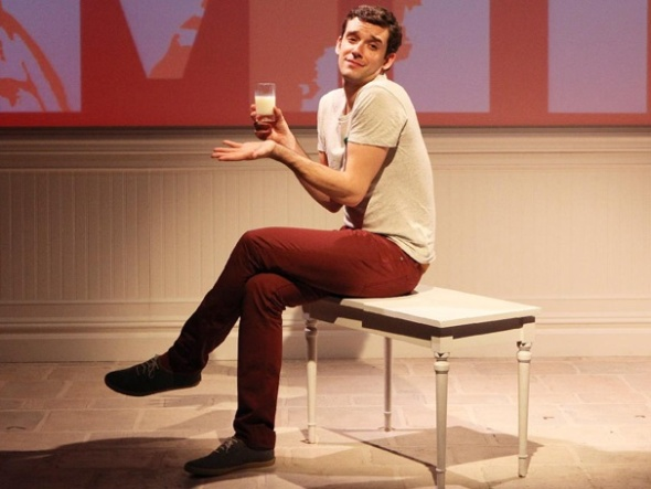 """Michael Urie, in the original Rattlestick Theatre production of Jonathan Tolins' """"Buyer & Cellar,"""" now at Broadway in Chicago on national tour. (Sandra Coudert)"""
