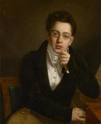 Young Franz Schubert about the time of the First Symphony, oil painting by Josef Abel, Kunsthistorisches Museum, Vienna.
