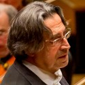 Riccardo Muti listens to the Chicago Symphony as he conducts Schubert's Ninth Symphony, March 2014. (Todd Rosenberg)