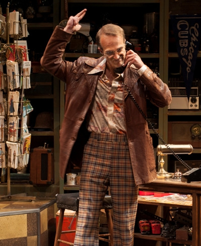 Teach calls the mark's residence to make sure nobody's home in 'American Buffalo' by David Mamet at American Players Theatre. (Zane Williams)